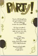 gold party invitations