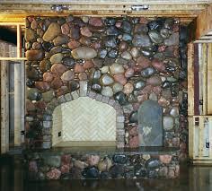 rock fire place