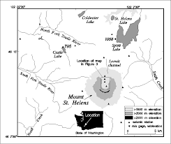 map of mt st helens area