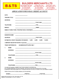 company application form
