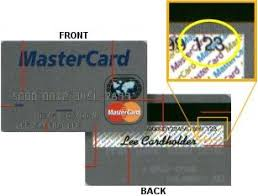 mastercard security code