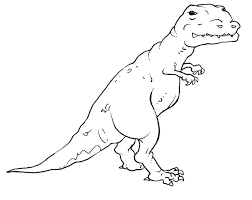 coloring pages t rex