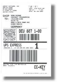 international shipping labels