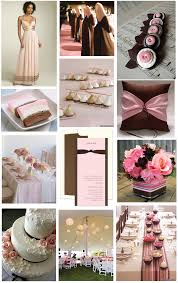 brown pink wedding