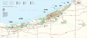 indiana dunes map