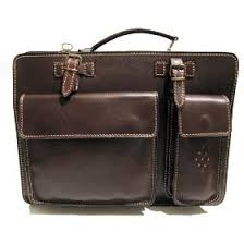 brown leather brief case