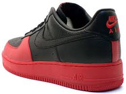 black and red air force ones