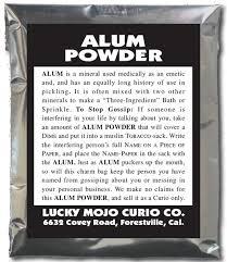 powder alum