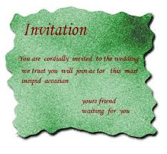 invitation words