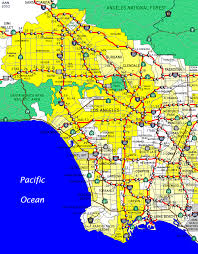 california los angeles map