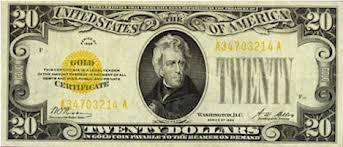 20 dollar gold certificate