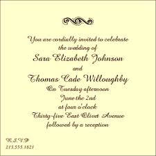 marriage invitation formats