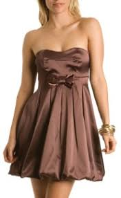 brown bubble dress