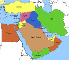 iraq on a world map