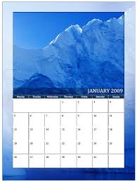 free 2009 monthly calendars