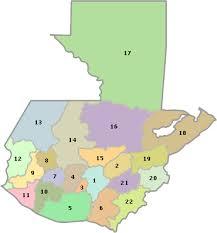 mapa de guatemala por zonas