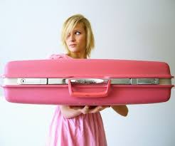 hot pink suitcase