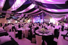 black and white party decor