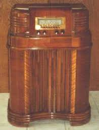 antique floor model radio