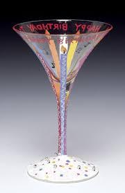 happy birthday martini glass