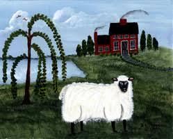 folk art sheep