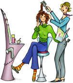 hair styling clip art