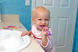 baby tooth brushing