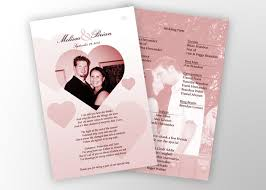 photo wedding programs