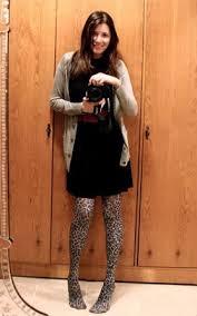 black dress tights