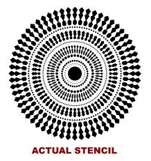 circle wall stencil