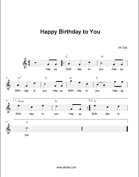 happy birthday to you score