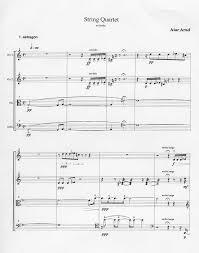 string quartet score