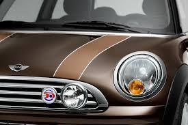 brown mini cooper