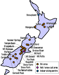 coronet peak map