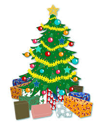 christmas trees with presents