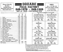 menus from restaurants