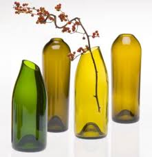 colored wine bottles