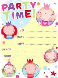 party invitations for children