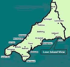 looe cornwall map