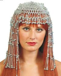 beaded head dress