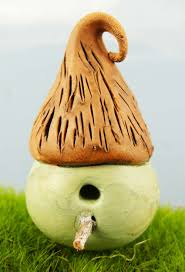 clay bird house