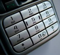 mobile phone button