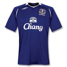 everton shirt 08 09