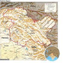 maps of kashmir