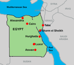 egypt map taba