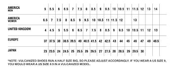 girls shoe size chart