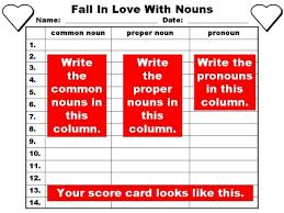 noun lesson plans