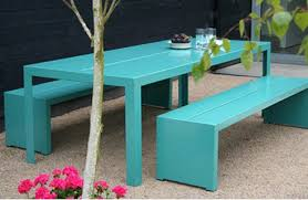 outdoor metal tables