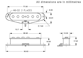 guitar pickup dimensions