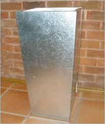 galvanized container